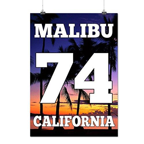 malibu-beach-california-sandy-beach-matte-glossy-poster-a3-42cm-x-30cm-wellcoda
