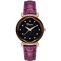 YT Reloj de Cuarzo con Diseño de Diamantes de Imitación para Mujer,Púrpura
