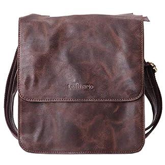 51 H3HZ5qIL. SS324  - Leathario Bolso de Hombre de Piel auténtico Bandolera pequeña Bolso Mensajero de Cuero de Hombro para Caballeros de Tipo Casual Messenger Bag de Color marrón