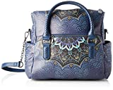 Desigual Bag Tekila Sunrise Loverty, Bolso Plegable para Mujer, Azul (Petrucho), U