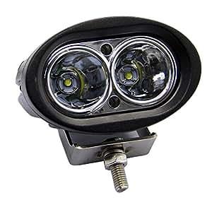 Adzo Prime-2X of 20w Car Led Auxiliary Cree LED Fog Lamp White Light Spot + Adzo Prime Logo Keyring for Toyota Innova Crysta