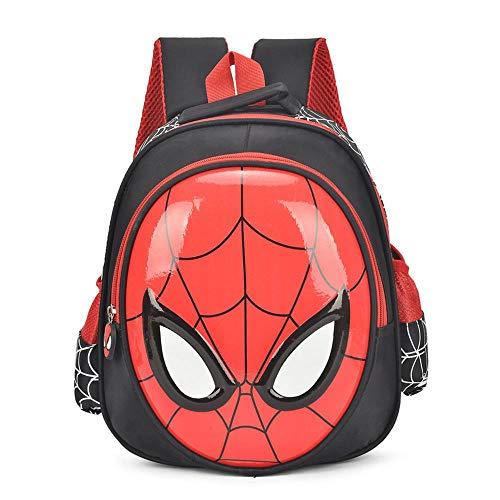 YXRL Kinderschultasche 3D Spiderman Rucksack Rucksack Für Jungen Schultaschen Für Kinder Cool Animal Print Bagpack Black