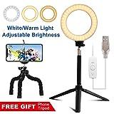LED Ring Light - Lambony Lumière Anneau Réglable Trépied d'Eclairage annulaire...