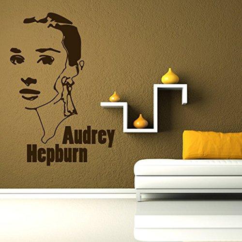 denoda® Audrey Hepburn - Wandtattoo Gold 100 x 147 cm (Wandsticker Wanddekoration Wohndeko Wohnzimmer Kinderzimmer Schlafzimmer Wand Aufkleber)