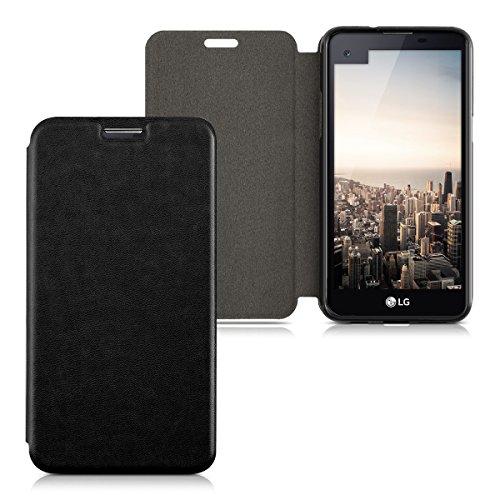 kwmobile LG X Screen Hülle - Kunstleder Handy Schutzhülle - Flip Cover Case für LG X Screen