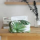 Lx.AZ.Kx Caja de pañuelos almacenamiento Cuadrangular titular para la oficina en casa alquiler de hoja de palma