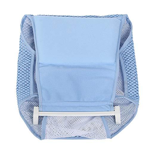 Imagen para Recién Nacido Baño Infantil Líquido Seguridad Bañera Asiento De Apoyo Neto Forma De Cruz Almohadilla Ajustable, Bebé Toddle Ducha Cuna Algodón ( Color : Azul )