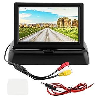 KIMISS-Rckansicht-die-LCD-Monitor-Universal-43LCD-Bildschirm-Auto-faltender-Monitor-Anzeigen-Zweikanal-Eingang-fr-Auto-LKWs-aufhebt-Rckansicht-Monitor