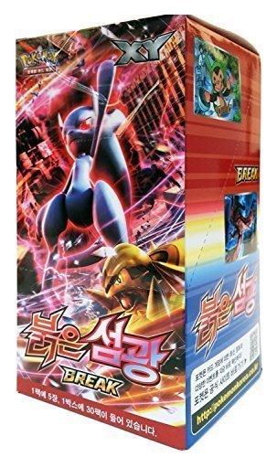 Pokémon Cartes XY8 Booster Pack Boîte 30 Packs en 1 boîte RED FLASH Version Corée TCG