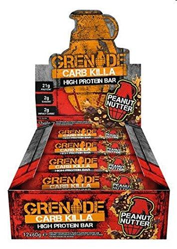 Grenade Carb Killa Hochproteinriegel, Peanut Nutter, 12 x 60g