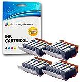 20 Tintenpatronen kompatibel zu PGI-520 CLI-521 für Canon Pixma MP540 MP540x MP550 MP560 MP620 MP620b MP630 MP640 MP980 MP990 MX860 MX870 iP3600 iP3680 iP4600 iP4680 iP4700 - Schwarz/Foto Schwarz/Cyan/Magenta/Gelb, hohe Kapazität