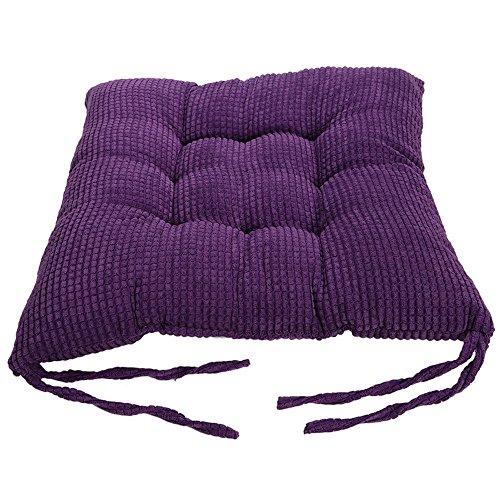 Nibesser Superweiche Stuhlkissen Stuhlauflagen 40x40cm Sitzkissen für Stühle im Indoor & Outdoor-Bereich mit dicker Polsterung 1 Stück (Lila) - Lila Sitzkissen