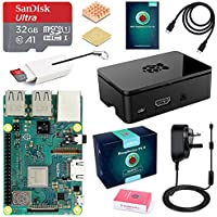 ABOX Raspberry Pi 3 B+ Model B Plus Complete Starter Kit Motherboard 32GB SanDisk EVO+ SD Card NOOBS, 3A On/off UK Edition Power Supply, Support POE (Raspberry Pi 3 B+ Starter kit- 32GB)