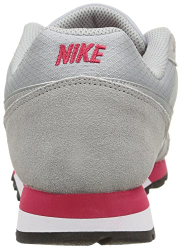 Nike - Md Runner 2, Scarpe da Donna Multicolore (Wolf Grey/Mtllc Slvr-Vry Brry)