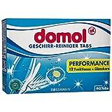 domol Geschirr-Reiniger Tabs Performance 840 g 40 Tabs 12 Funktionen + Glanzkern