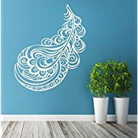 Removable s Boho Stickers Vinyl Wall Decal Plume Bohemian Ornaments Symbol Decoration for Living Room Bedroom 57X72CM