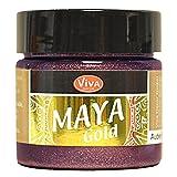 Viva Decor Maya Gold Effektfarbe Bastelfarbe Zeichenfarbe Bordeaux