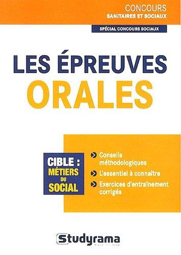 Les épreuves orales concours sociaux par Louise Desfonds