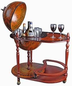 bar trolley globe terrestre mappemonde desserte cuisine maison. Black Bedroom Furniture Sets. Home Design Ideas