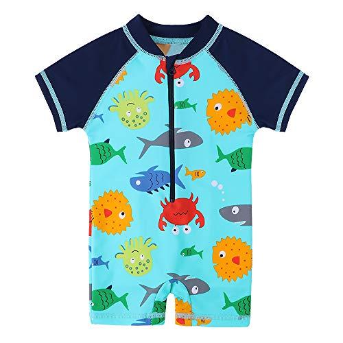 HUAANIUE Kinder Baby Bademode Einteiliger Badeanzug UV-Schutz-Badebekleidung