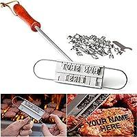 Sogar Outdoor BBQ Branding Iron con intercambiabili lettere di alfabeto nomi Barbecue Steak nomi degli strumenti - Carne Branding Iron