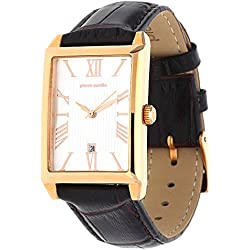 Pierre Cardin Women's Quartz Watch PC Belneuf - Analogue Watch with Date and Dark Brown Leather Strap and Silver Dial 30 M/3ATM - PC107212 °F11