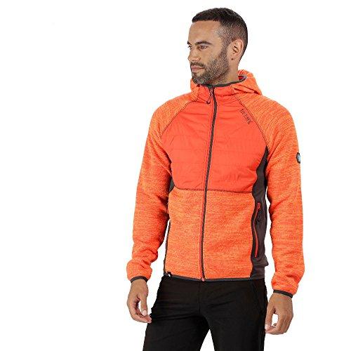 Regatta Rocknell Hybrid Fleecejacke für Herren, Größe:XXL;Farbe:Orange