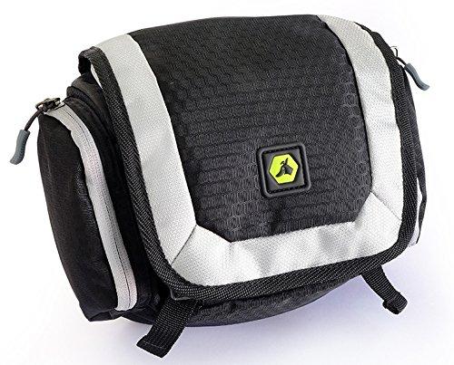 EQdog 150-156 Flex Pack Packtaschen für Hunderucksack, M, schwarz/silber