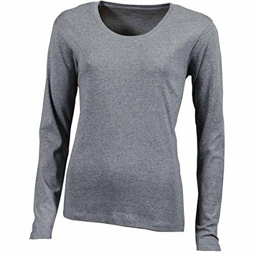 JAMES & NICHOLSON Damen T-Shirt, Einfarbig gris chiné foncé