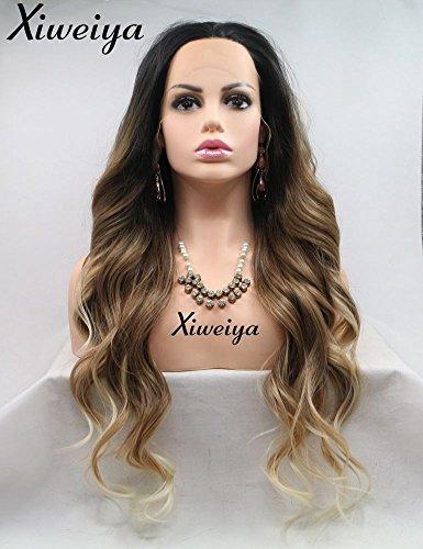 Xiweiya Peluca de pelo largo natural ondulado
