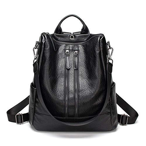 BEMEI Damen Rucksack Handtaschen Mode PU Leder Anti-Diebstahl Tagesrucksack Schultertaschen Schulrucksack