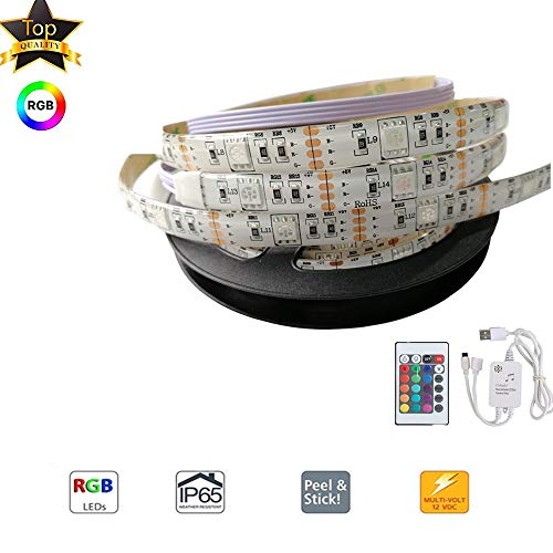 COL PETTI LED Strips Lights USB Bias Lighting 2M Backlight Strip Waterproof Soft Light mit farbenfroher Dekorative für TV Home Party Dekoration