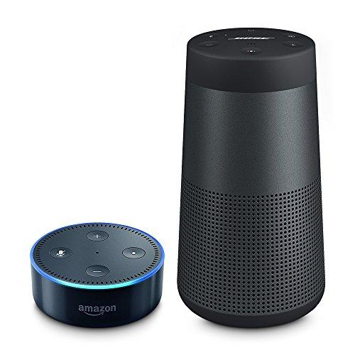 Angebot: Bose ® SoundLink Revolve Bluetooth Lautsprecher schwarz inkl. Amazon Echo Dot (2. Generation), Schwarz für nur 194,98 € statt bisher 239,98 € auf Amazon