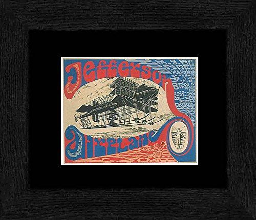 Jefferson Airplane–California Fachhochschule Staatliche Universität San Luis Obispo 1967gerahmtes Mini Poster–20x 18cm