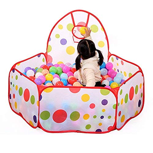 Papa&Mom Kids Ball Pool, Ball Pit House Hideaway Pop-Up Play Tent Cubby House - Outdoor Play Tent Pit Ball Pool and Children Indoor Outdoor (Playpen with 50 Balls)