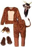 Smiffys 47072L Biest Dämonen Kostüm, Langes Weiches Fell, L, Braun