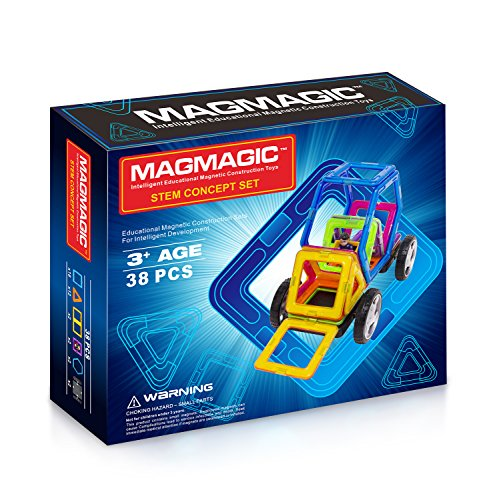 Magmagic Building Block Magnetic Toys, Versatility Vehicle Kit