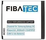 FIBAtec I Ersatz POWER AKKU Samsung Galaxy S4, Android Smartphone, Lithium Ionen Akku, Zusatzbatterie, Ersatz- Akku, Energiequelle Mobiltelefon I Handy Ersatzteile, Batterie, Hochleistungsakku
