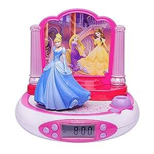 Lexibook - RP510DP - Radio Réveil Projecteur Disney Princesse