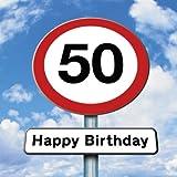 twizler 50. Geburtstag–Roadsign–50YEAR OLD–Alter 50Geburtstag Karte