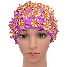 Amazon Fr Bonnet De Bain Fleur Violet