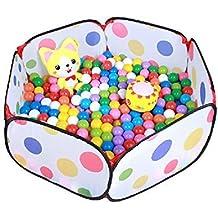 Gearmax® Plegable piscina de pelota tienda de juego campaña de los niños de bueno calidad de poliéster con diseño de punto multicolor