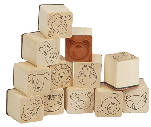 Sunnysue 200-10 - Holzstempel Lustige Freunde, 12-teilig - Dem Gummi-stempel Mit Namen