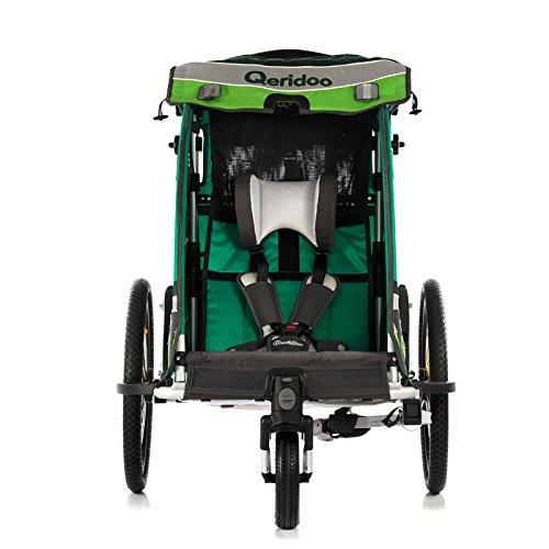 Qeridoo Sportrex 1 Fahrradanhänger 2017 – 1 Kind, Farbvariante:grün - 5