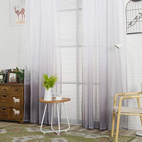 fnemo Voile Vorhang,Farbverlauf Patchwork Fenster Vorhang Polyester gardine für zuhause Wohnzimmer Schlafzimmer