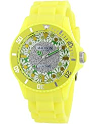 MADISON NEW YORK Damen-Armbanduhr Candy Time Flower Power Analog Quarz Silikon U4617-21