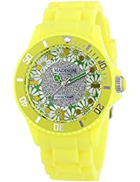 Madison New York analog Flower Power multi-color dial Unisex watch - U4617-21