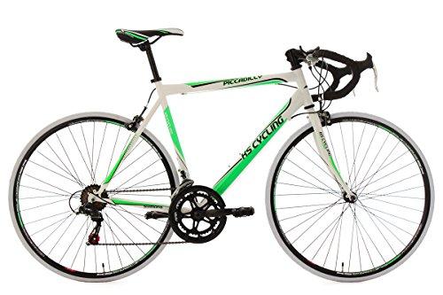 KS Cycling Herren Rennrad Piccadilly RH 59 cm Fahrrad, Weiß-Grün, 28