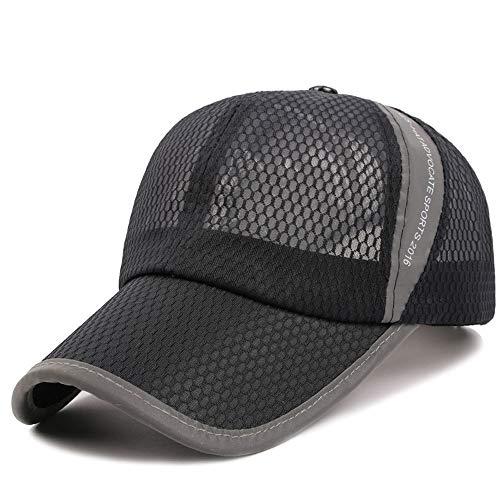 VISER Sommer Outdoor Sports Herren Baseball Cap Polo Golf Hut Frühling Atmungsaktiv Schweiß absorbierende Paar Bergsteigen Kappe Einstellbar Lkw-Fahrer Unisex Mode Atmungsaktiv Jungen Mädchen Mesh Cap - Golf Mädchen