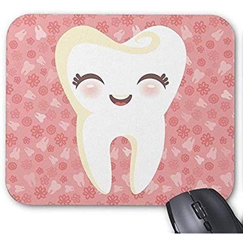 Mauspads Besonders angefertigt rutschfeste Gummi-Mausunterlage Netter Zahn - rosa kundengerechtes Mousepad